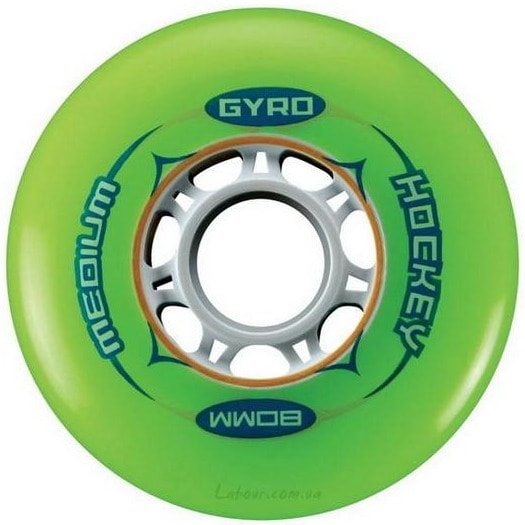 Колеса для роликовых коньков купить Gyro Hockey Green '12