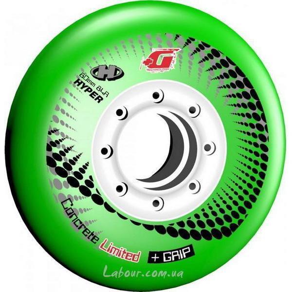 Колеса для роликовых коньков купить Hyper Concrete+Grip(Green) '13